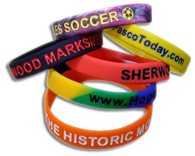 Silicone Bracelets Debossed Embossed And Printing